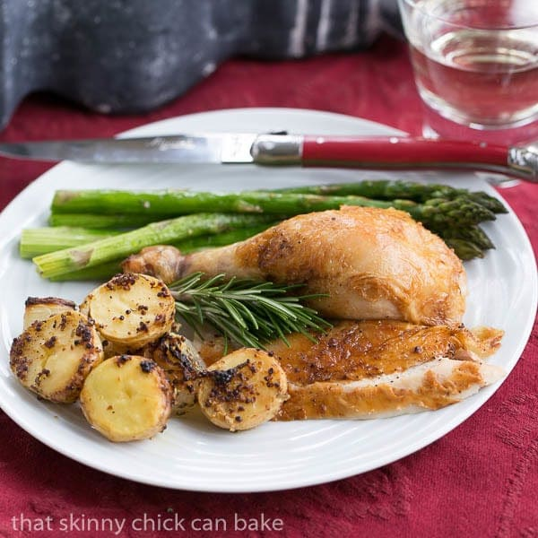 Classic Roast Chicken | #WeekdaySupper Sheet Pan Supper with chicken and mustardy potatoes