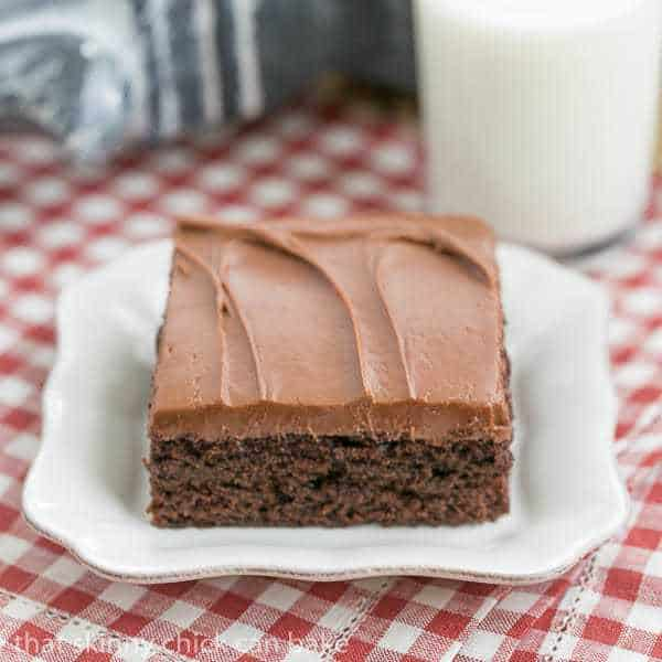 Old Fashioned Cocoa Fudge Cake That Skinny Chick Can Bake