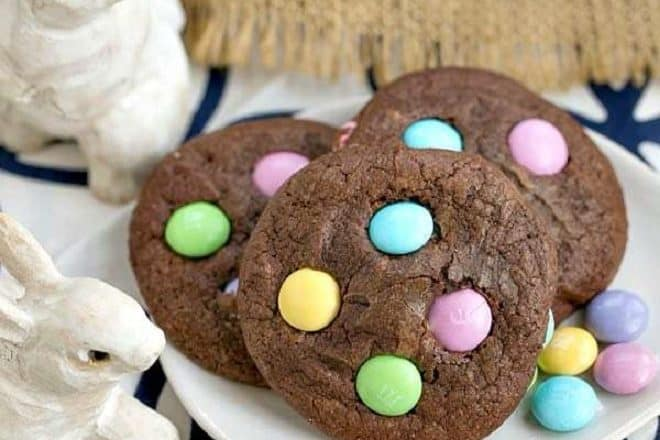 Easter Candy Brownie Cookies featured image