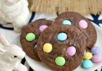 Easter Candy Brownie Cookies #SundaySupper