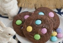 Easter Candy Brownie Cookies | Chewy Brownie Cookies speckled with leftover Easter candy