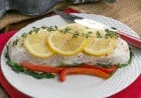 Halibut and Spinach en Papillote #BloggerCLUE