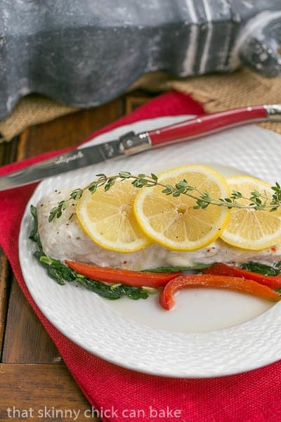 Halibut and Spinach en Papillote