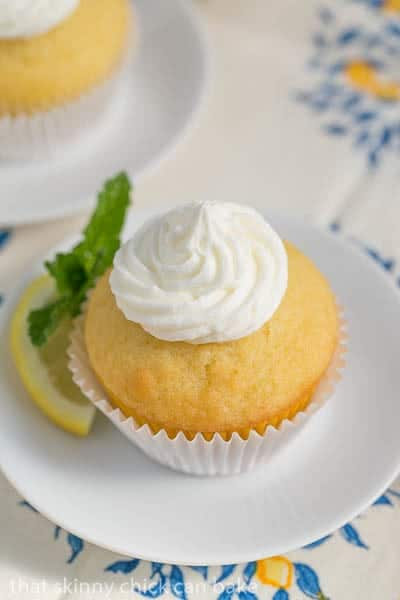 Limoncello Cupcakes with Limoncello Buttercream