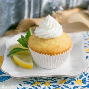 Limoncello Cupcakes | Buttercream topped cupcakes with a triple dose of limoncello