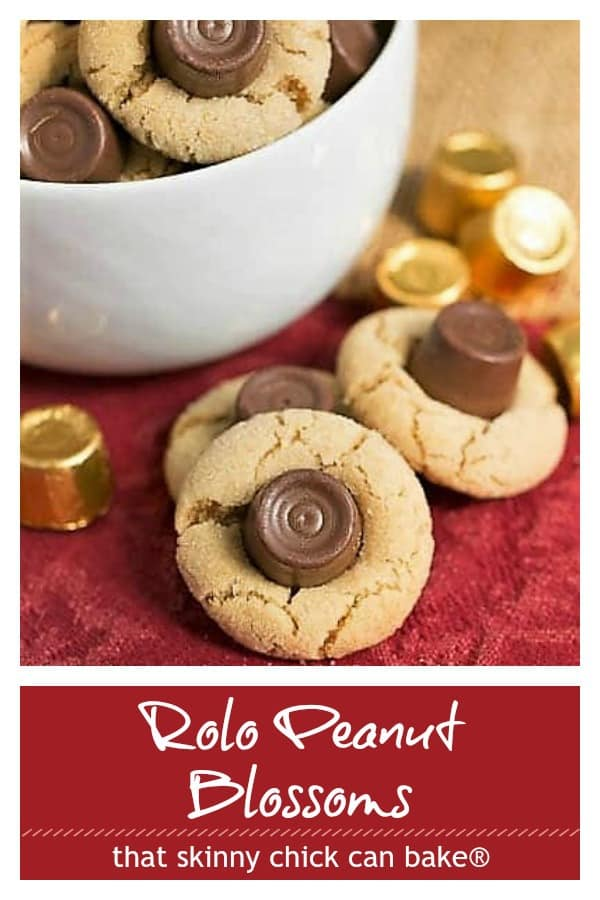 Rolo Peanut Blossoms text and photo collage
