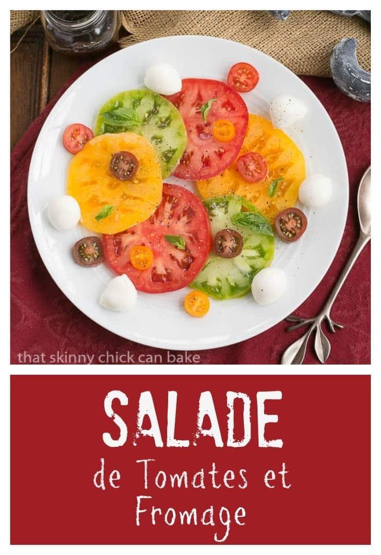 Salade de tomates et fromage tomato mozzarella salad - Salade de tomates simple ...