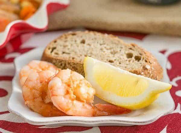 Shrimp Escabeche | Shrimp pickled in an aromatic