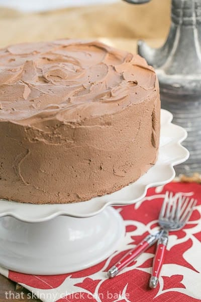 Tunnel of Mousse Cake | LIght crumb chocolate cake filled and frosted with chocolate mousse