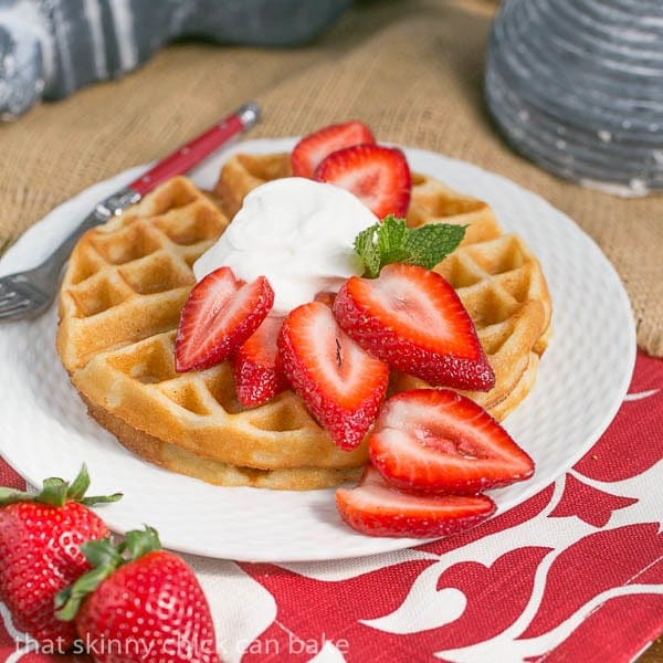 Waffles and Cream | Light and crisp dessert waffles served with ...