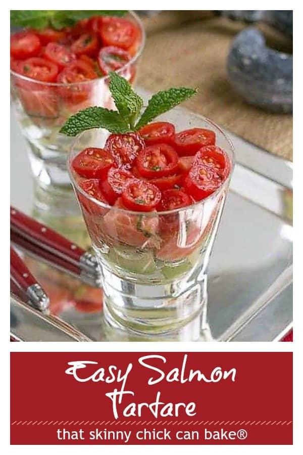 Easy Salmon Tartare Pinterest collage