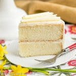 White Birthday Cake | An exquisite white cake with vanilla bean buttercream