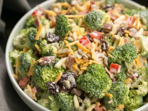 Broccoli Salad With Bacon And Dried Cherries That Skinny Chick Can Bake