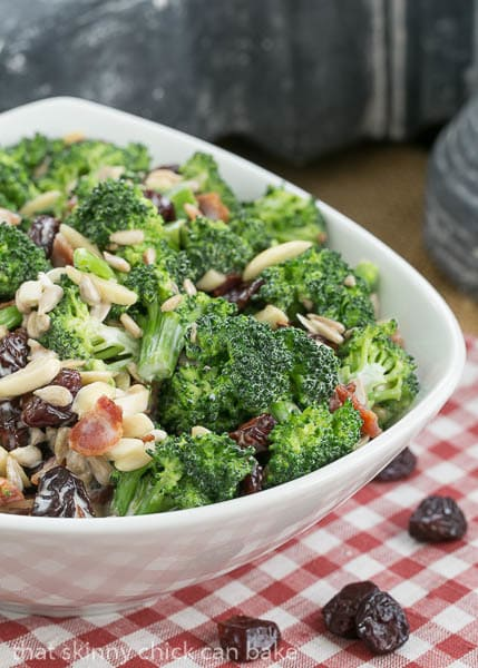 Broccoli Salad with Bacon and Dried Cherries | Perfect for picnics and potlucks!