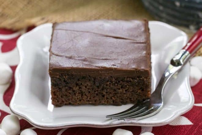 Coca Cola Cake | An incredibly moist, decadent chocolate cake with Coke in the batter and frosting!