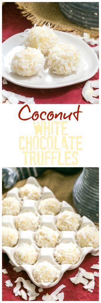 Coconut White Chocolate Truffles | An easy, decadent 4 ingredient recipe