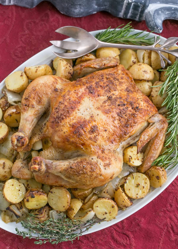 Classic Roast Chicken | EASY, scrumptious Sheetpan Supper with chicken and mustardy potatoes