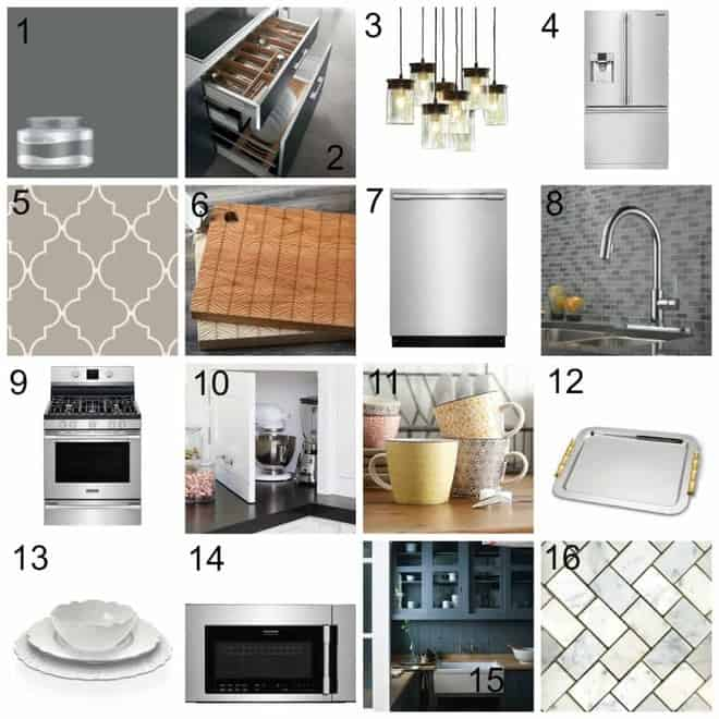 Dream Kitchen Design Board @Lowes @Frigidaire #sponsored
