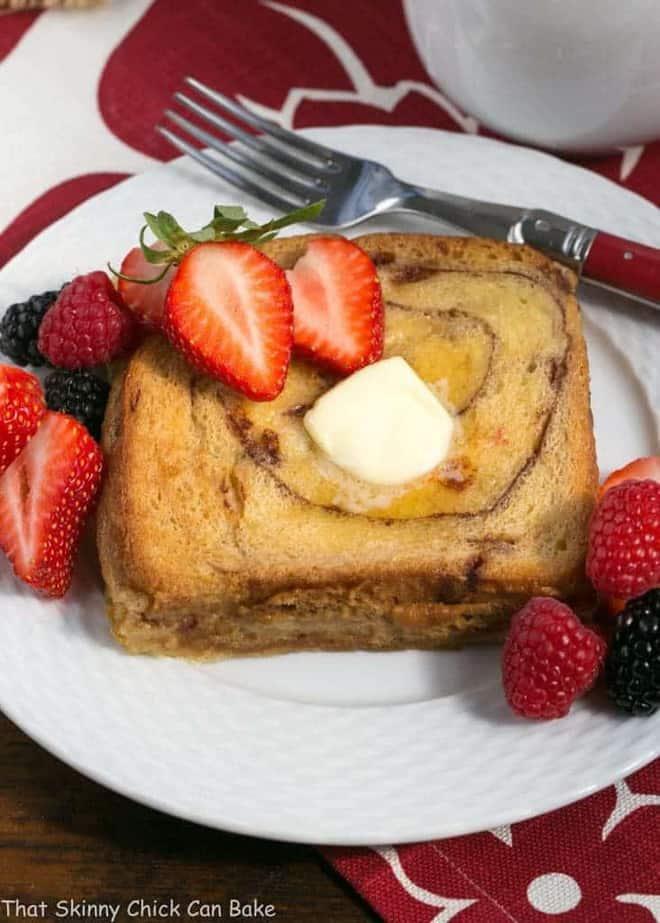 Overnight Cinnamon Bread French Toast - a scrumptious, make ahead brunch dish!