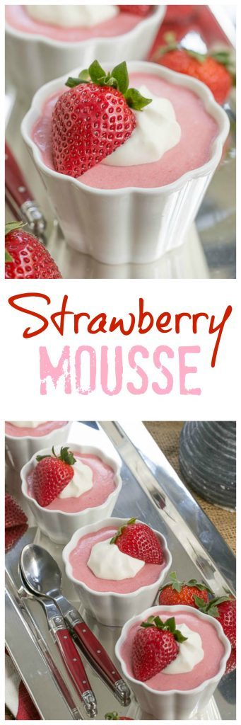Strawberry Mousse | A sweet. creamy spring time dessert!