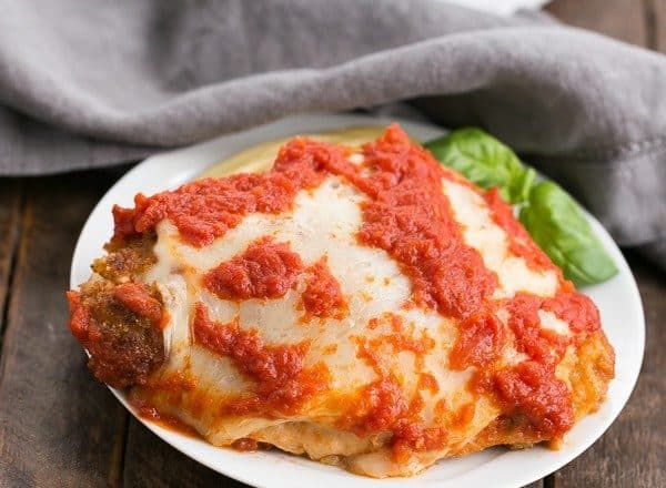 Chicken Parmesan That Skinny Chick Can Bake