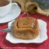 Cinnamon Sticky Buns | A double dose of cinnamon plus a honey brown sugar topping!