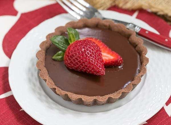 Double Chocolate Tartlets   An elegant chocolate dessert