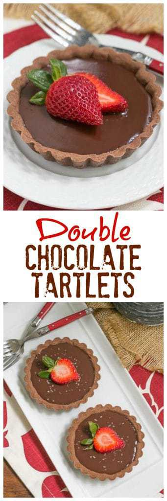 Double Chocolate Tartlets - An elegant chocolate dessert