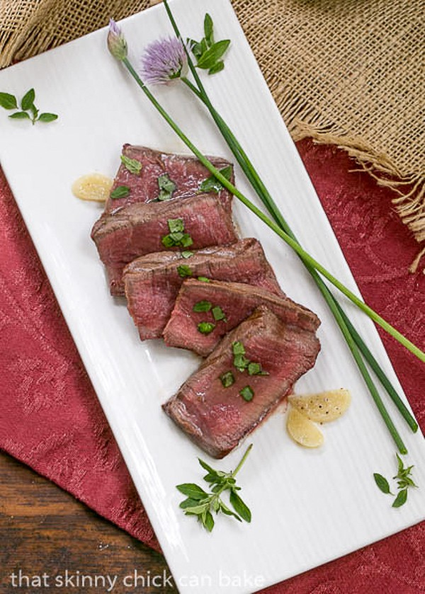 Grilled Tenderloin with Garlic Herb Butter | An exquisite steak recipe