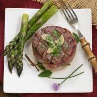 Grilled Tenderloin with Garlic Herb Butter An exquisite steak recipe