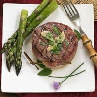 Grilled Tenderloin with Garlic Herb Butter - an exquisite way to serve beef!