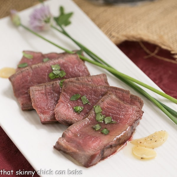 Grilled Tenderloin with Garlic Herb Butter  An exquisite steak recipe
