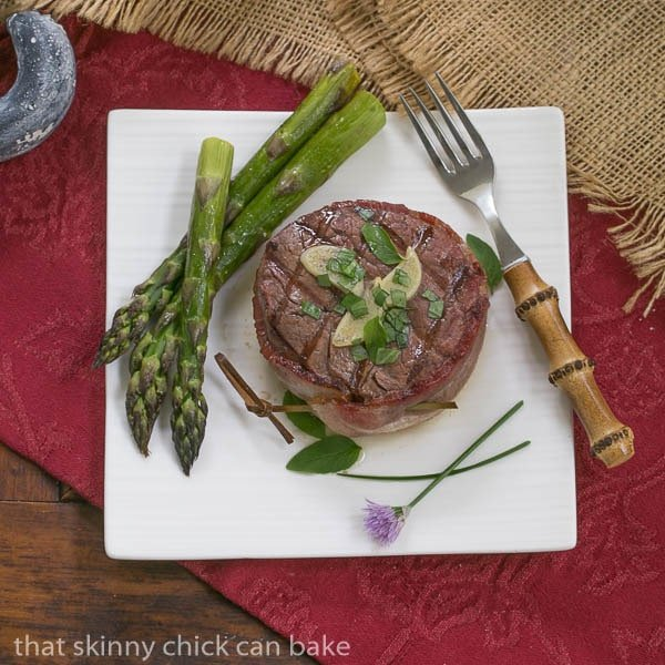 Grilled Tenderloin with Garlic Herb Butter | An exquisite steak recipe #SundaySupper #GrillTalk