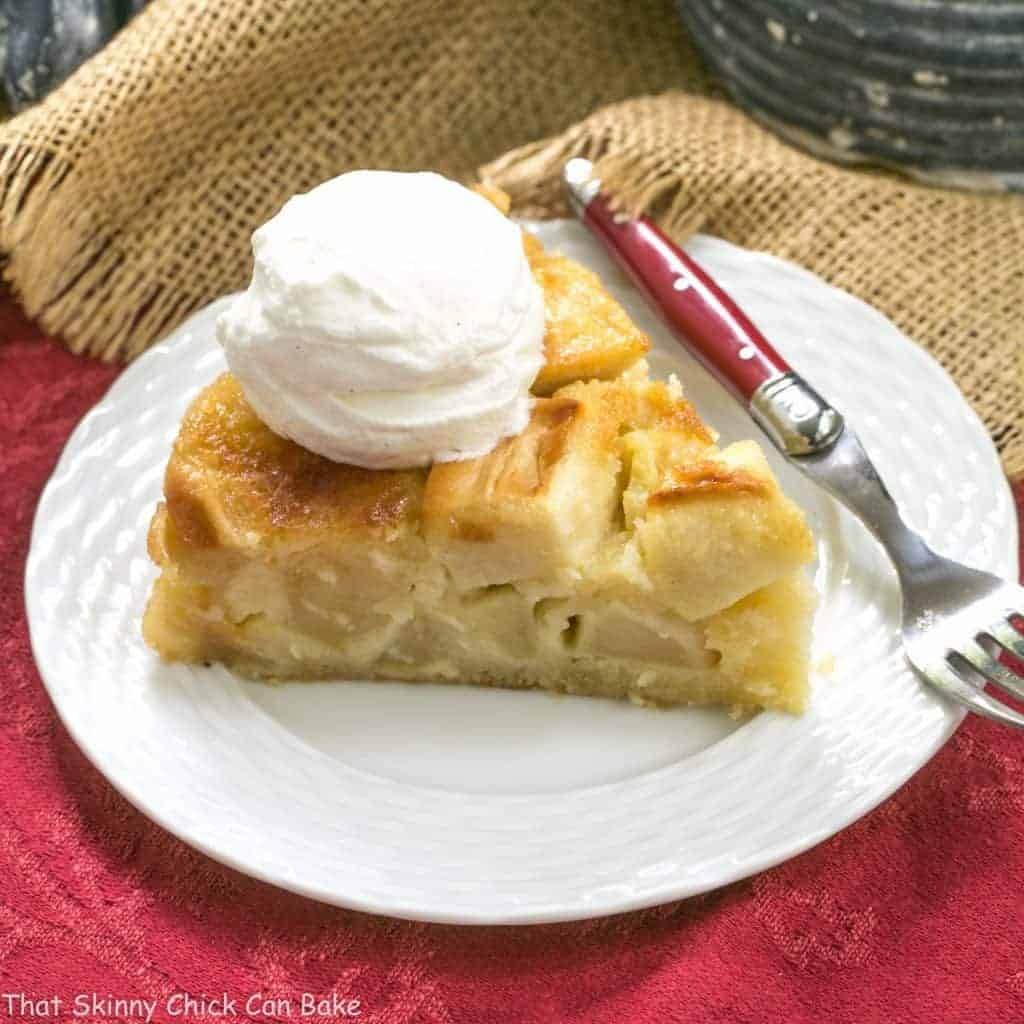 French Apple Cake | A spectacular, rustic cake with a high apple to cake ratio!
