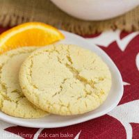 Orange Crinkles   Chewy orange cookies with a crackled top
