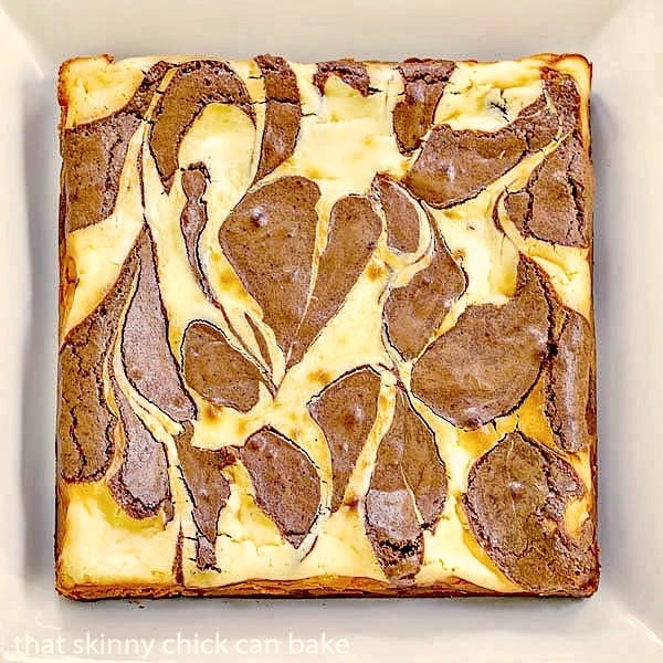 Ricotta Cheesecake Brownies | Fudgy Brownies with a delectable cheesecake swirl
