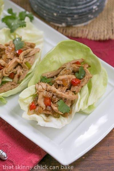 Shredded Chicken Lettuce Wraps Recipe