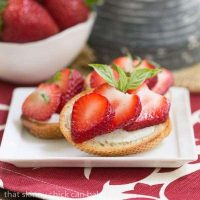 Strawberry Basil Crostini - A spectacular out of the ordinary appetizer!