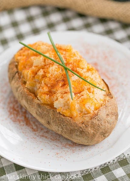 Twice Baked Potatoes - a no-brainer recipe that pushes baked potatoes over the top