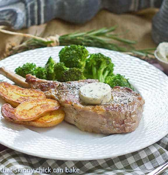 Veal Chops with Rosemary Butter   A restaurant worthy entree you can ...