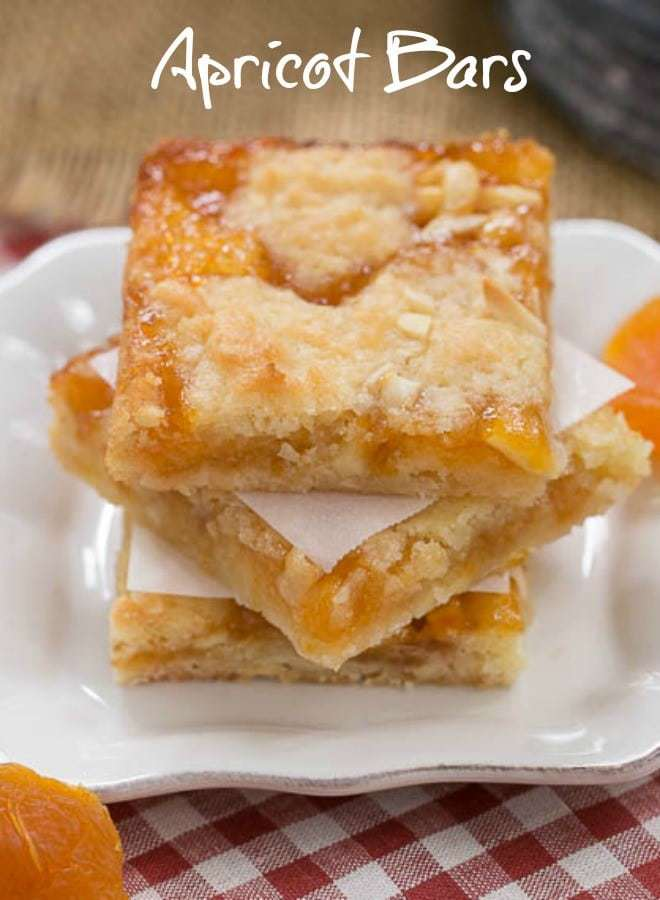 Coconut Apricot Bars - Scrumptious layered bars with coconut, almonds and apricot preserves apricots, apricotdessert, barcookies