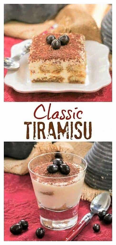Classic Tiramisu pinterest collage