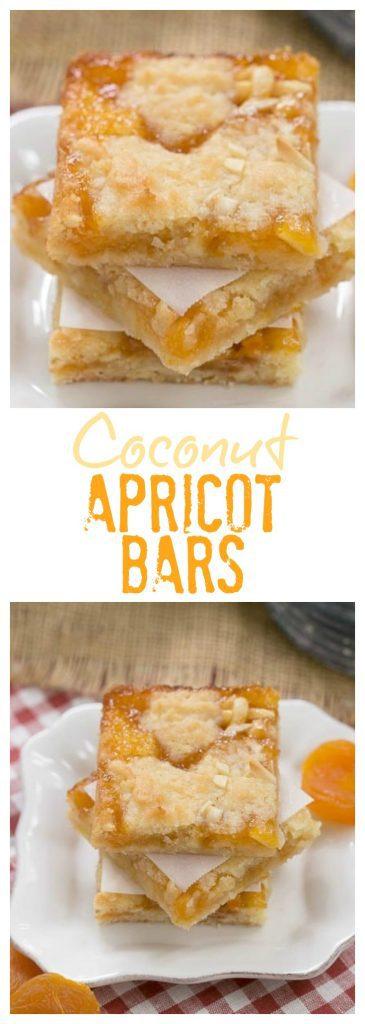 Coconut Apricot Bars collage