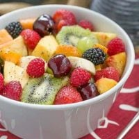 Honey Lime Fruit Salad   Scrumptious fresh fruit dressed with honey, lime juice, vanilla and poppy seeds