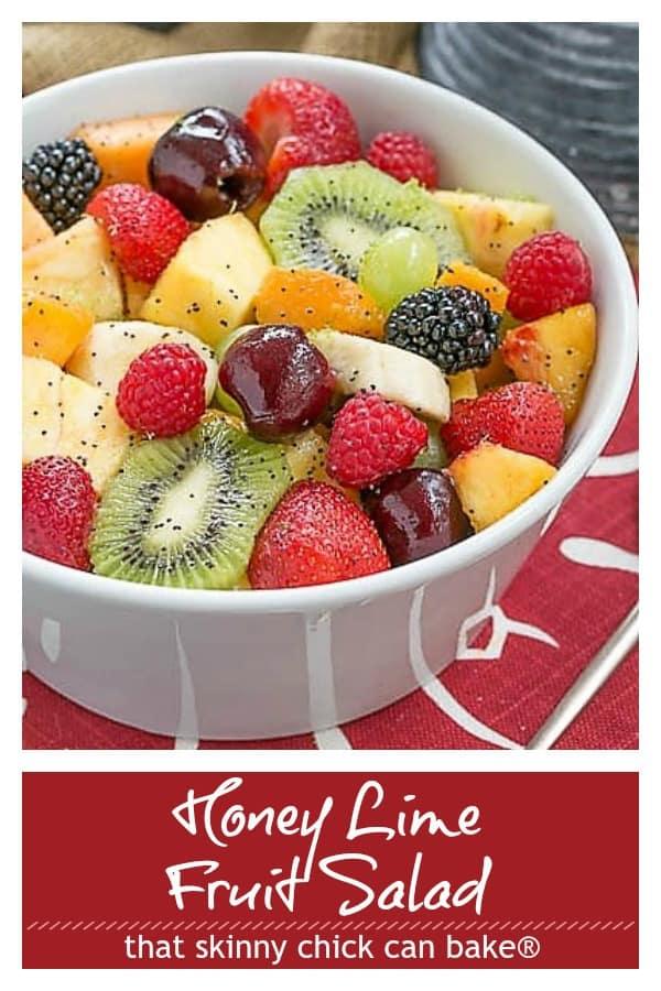 Honey Lime fruit salad Pinterest image