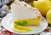 Lemon Meringue Pie | Luscious lemon filled pastry crust topped with a pillow of fluffy meringue
