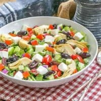 Mediterranean Chopped Salad in serving bowl