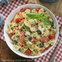 Pesto Pasta Salad | Pasta with a pesto dressing and so much more!