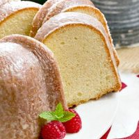 Sour Cream Pound Cake - Dense, delectable with a touch of vanilla and almond