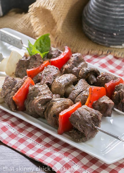 Tender Steak Kabobs with a simple, flavor packed marinade